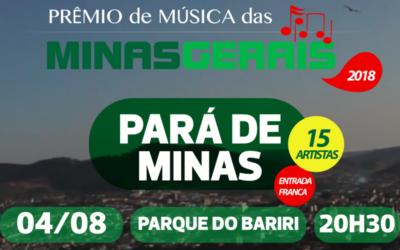 📣 Atenção Pará de Minas, 04/08 tem show Parque do Bariri!
