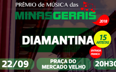Dia 22/09 é a vez de Diamantina vibrar com mais uma disputa do Prêmio