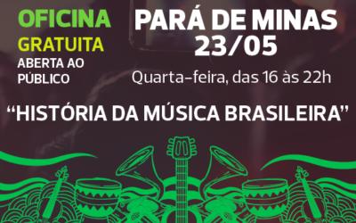 Dia 23/05, em Pará de Minas, acontece a primeira oficina do Prêmio