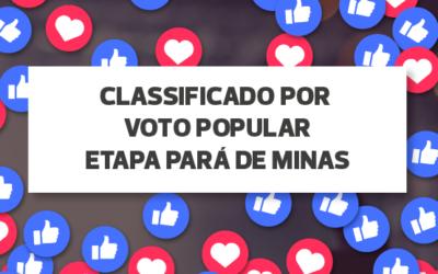 RESULTADO VOTAÇÃO POPULAR ETAPA PARÁ DE MINAS